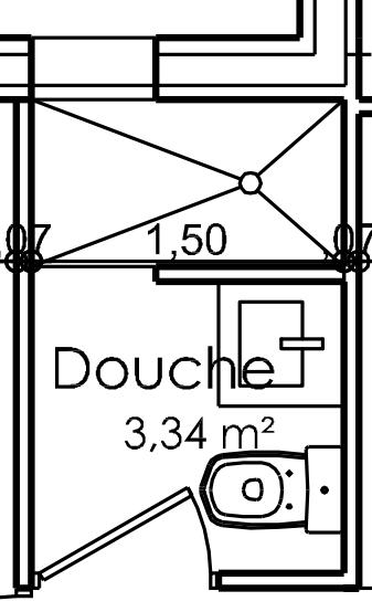 plan d'une maison de 3 chambres