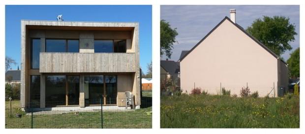 maison bois plain pied moderne
