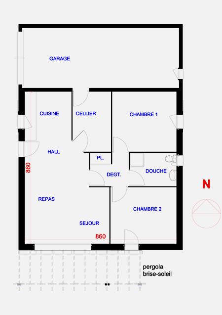 maison de plein pieds modernes