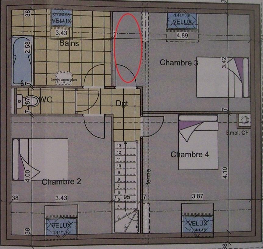 plan maison en l 100m2