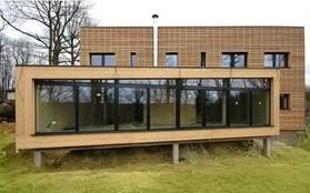 plan maison ossature bois contemporaine