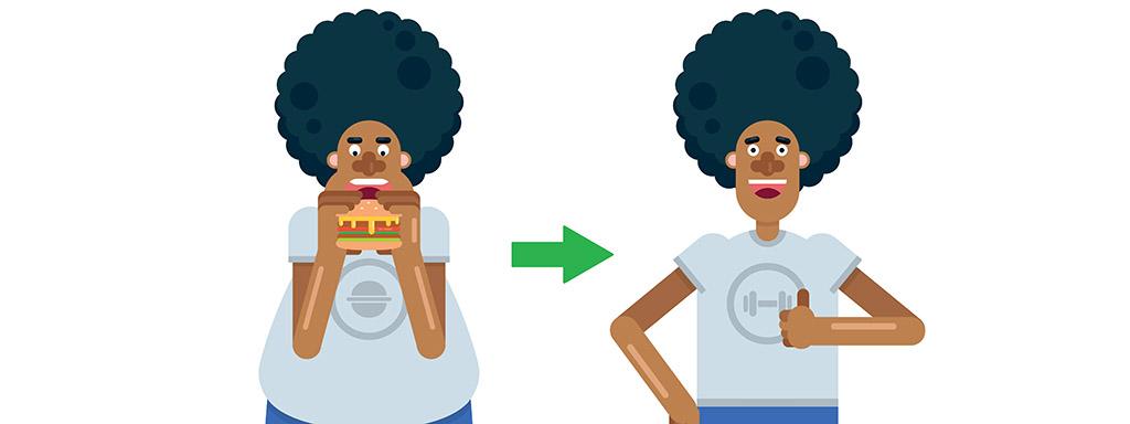 Jak zhubnout bez cvičení - náš postup.