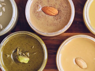 Ořechové pasty jako součást zdravého jídelníčku.