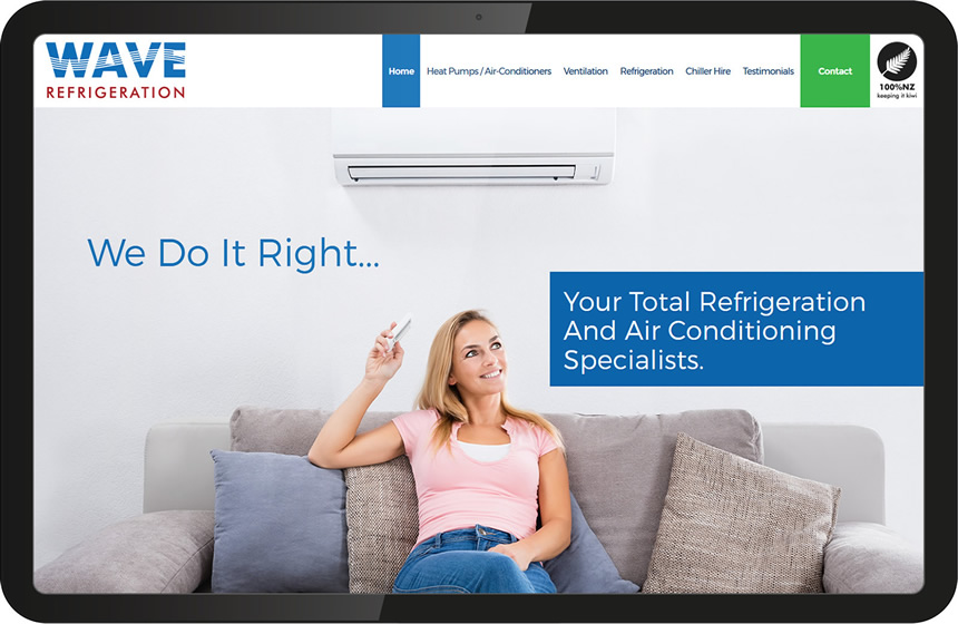 Website design for Wave Refrigeration