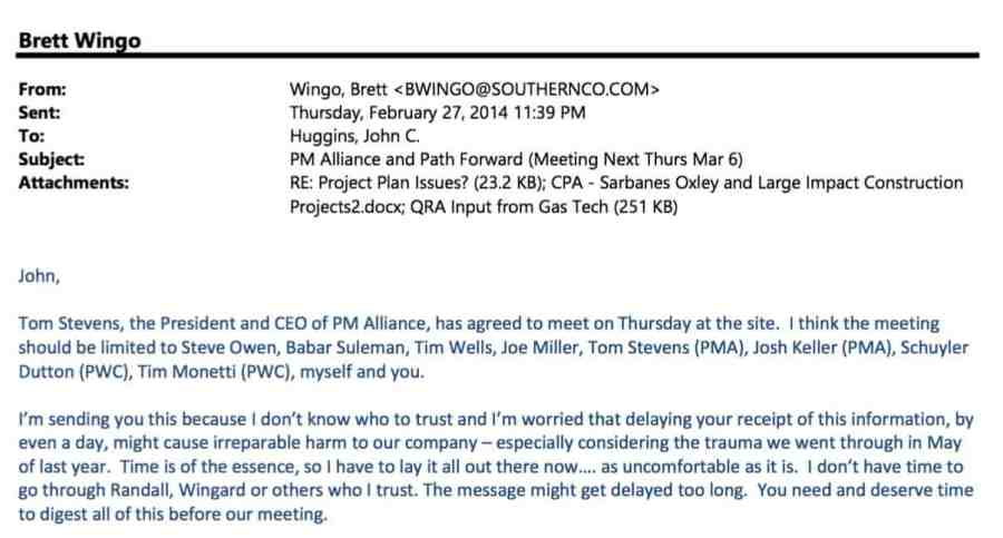 Brett Wingo email Feb 27 2014