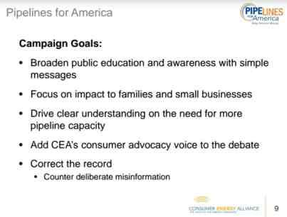 Consumer Energy Alliance Pipelines For American Presentation