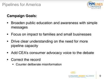 Consumer Energy Alliance Pipelines For American Presentation