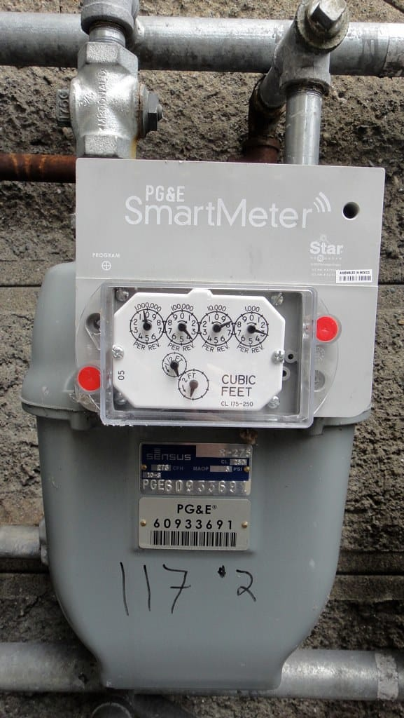 A PG&E smart meter. Utilities are unevenly applying late fees and reconnecting customers who had been disconnected before pandemic crisis