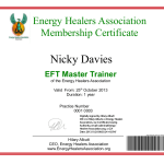 Energy Healers Association Master Trainer