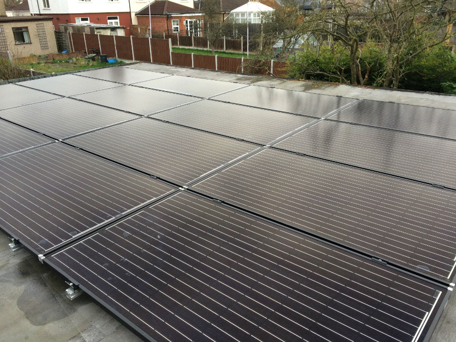 Solar PV for flat roof property - EnergyMyWay