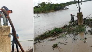 Photo of ENDE repara torre de alta tensión en el Río Mamoré tras colapso por arrastre