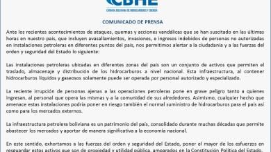 Photo of Comunicado de la Cámara Boliviana de Hidrocarburos y Energía
