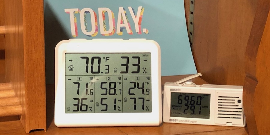 Measuring Indoor Humidity With A Digital Thermo-hygrometer