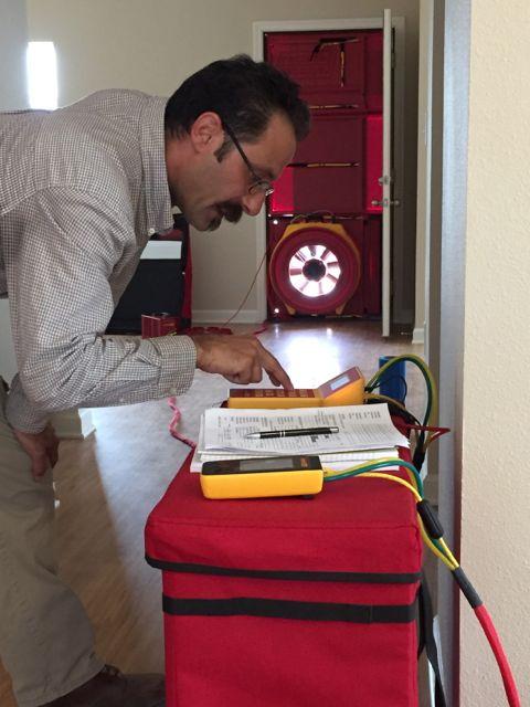 Blower-door-duct-leakage-pressure-test