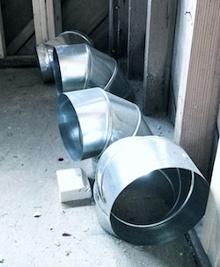 Hvac-mini-split-heat-pump-duct-rigid-elbows-waiting