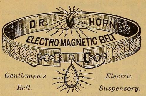Dr. Horne's Electro-Magnetic Belt for gentlemen