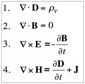 Maxwell's equations for electromagnetism