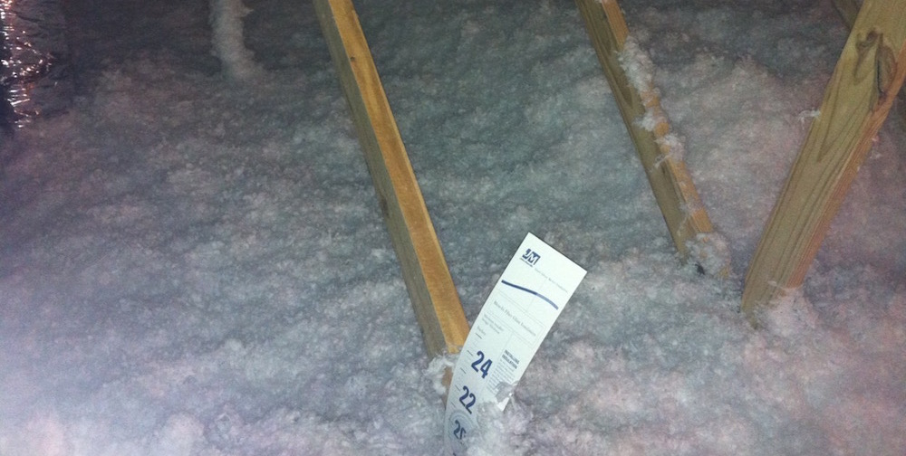 Blown Fiberglass Insulation In An Attic Varies In Depth, Which May Affect R-value