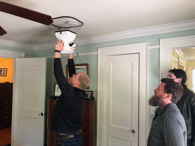 Measuring the ventilation air flow rate