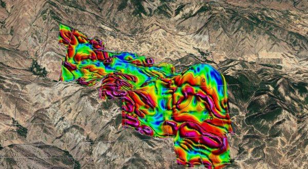 İHA ile alınmış manyetik anomali haritası