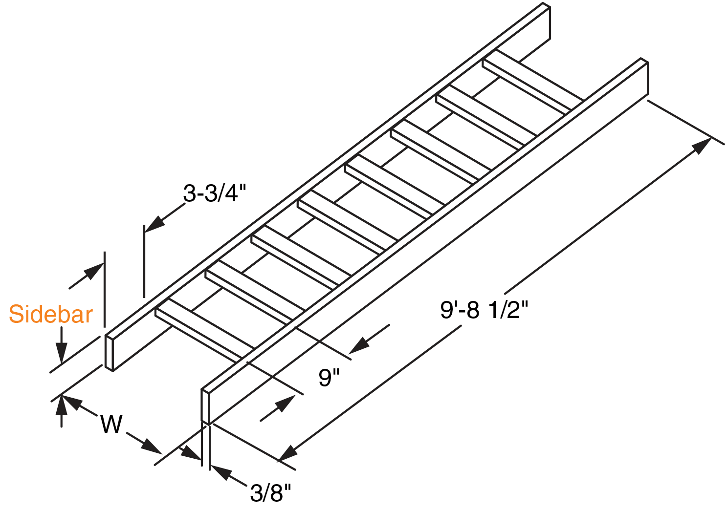 Channel Type Solid Side Bar