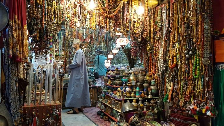 Mutrah souq i Muscat i Oman