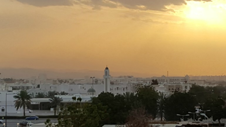 Solnedgang over Muscat, Oman