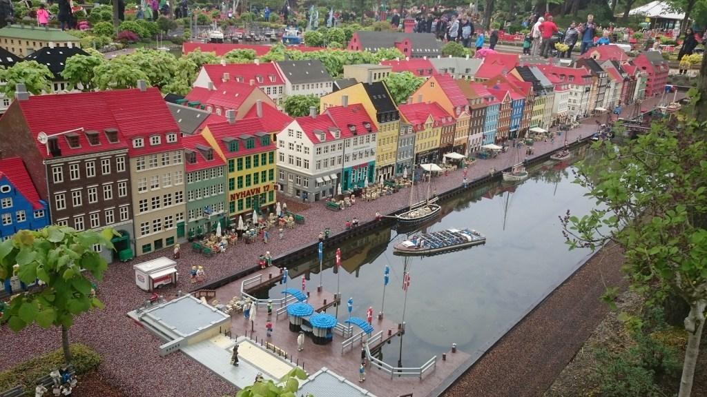 Nyhavn i Miniland i Legoland