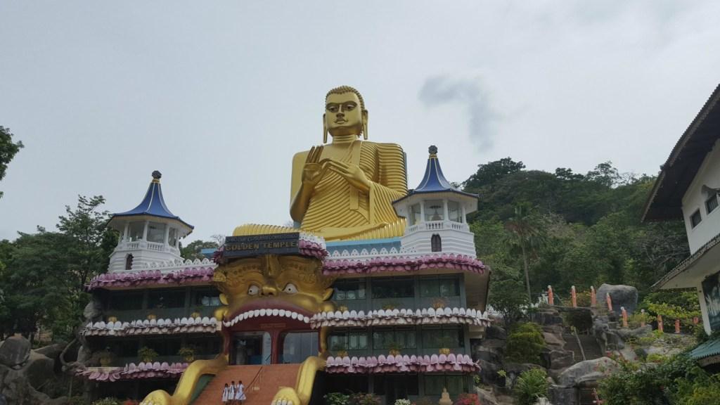 Buddha at the Golden Temple in Dambulla