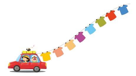 occuper enfant en voyage pendant trajet en voiture