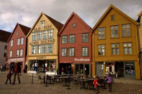 Bergen-quai-bryggen-Norvège