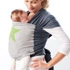 Echarpe de portage gris étoile verte Bykay conseils achat