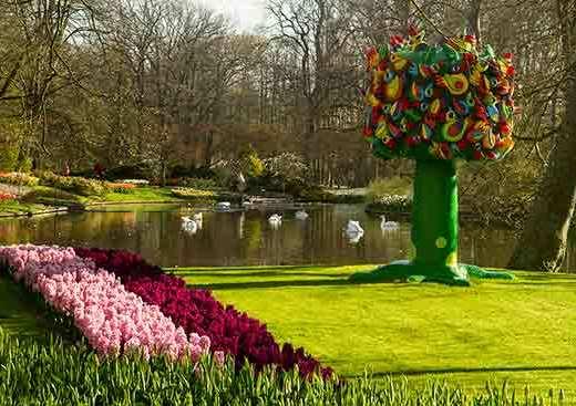 jardin-keukenhof-hollande-sculpture-arbre-oiseaux