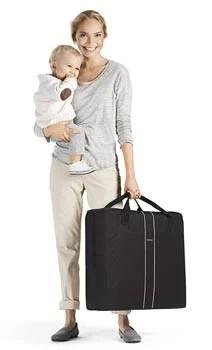 valise-lit-parapluie-babybjorn-avec-bébé-et-maman