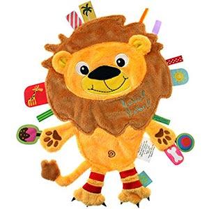 doudou-étiquette nomade-lion