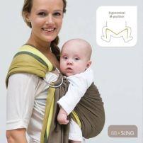 echarpe portage sling avec anneau pour bébé