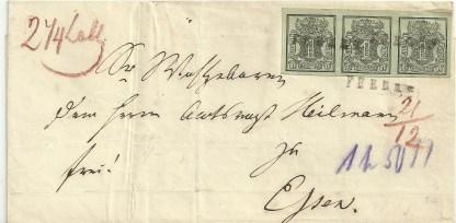 Hanover 1851-55 1ggr. on E.