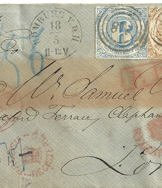 T&T 1867 E. to London 9kr.Bistre