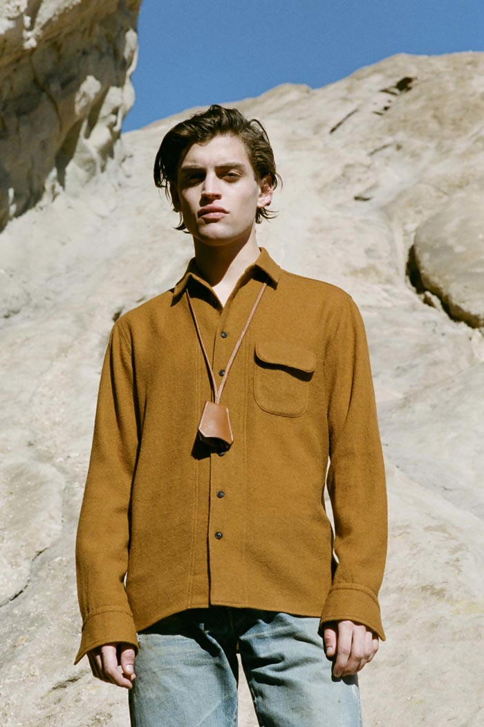 Simon Miller: relaxed fit shirt in ochre - Fall Winter 2016 Lookbook
