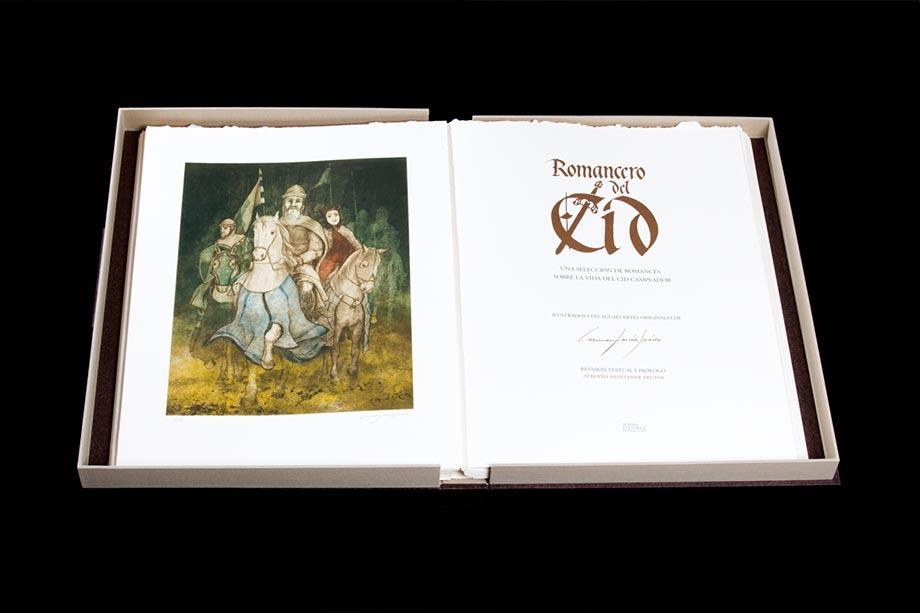 Libro Romancero del Cid.   de Summa Editorial. Editoriales que destacan por el diseño de sus libros. La Gauss