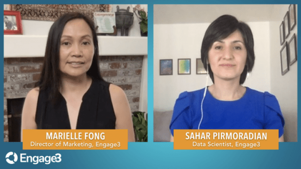 Marielle Fong interviews Engage3 Data Scientist, Dr. Sahar Pirmoradian