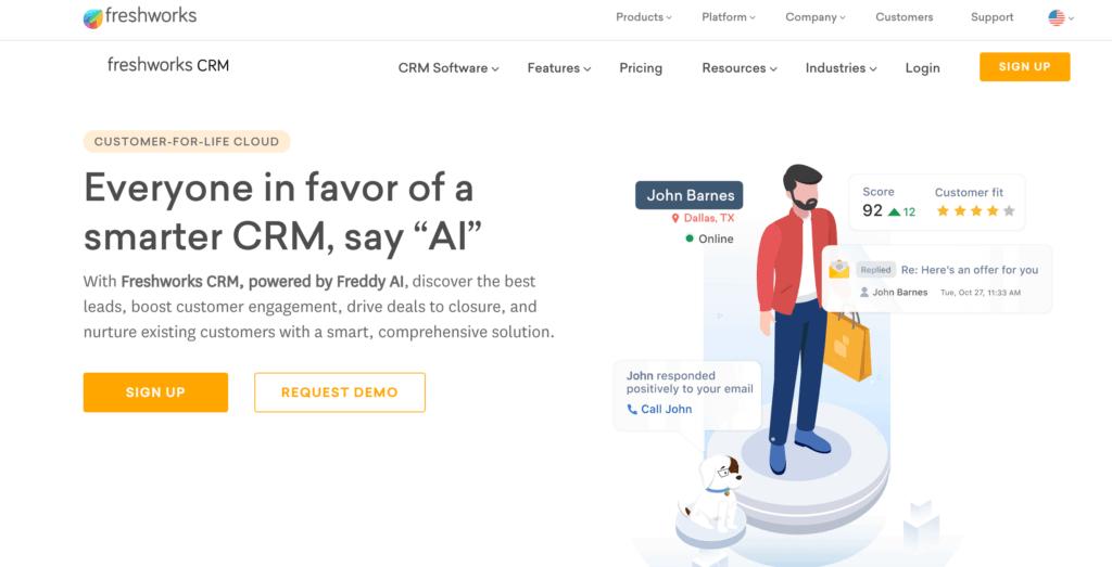 Freshworks marketing management solution