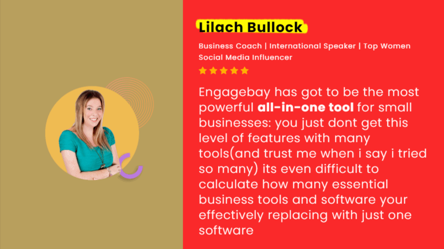 EngageBay testimonial from Lilach Bullock