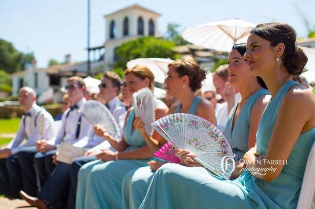 bridesmaids in a row