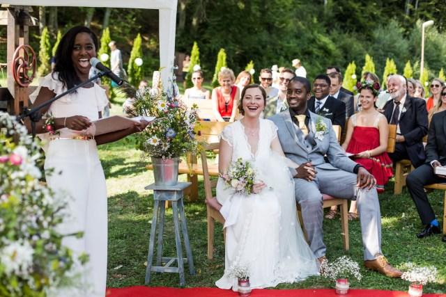 Nova conducting a wedding ceremony