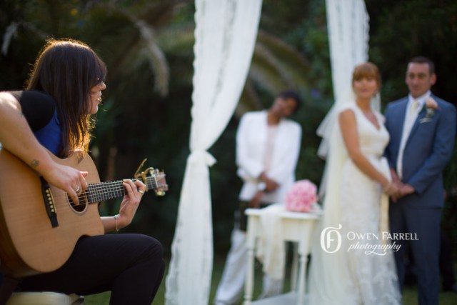 Guitar music at a wedding