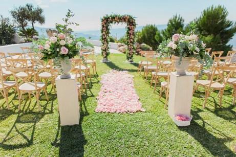 Mediterranean ceremony area