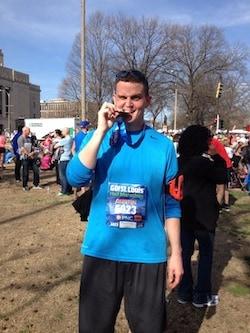 Dustin after Half Marathon