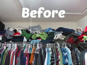 organize your closet shelves for under $25