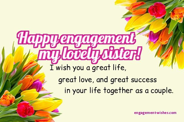 Engagement wishes 1000 engagement quotes and card messages engagement wishes for sister m4hsunfo